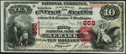 newark ten dollars