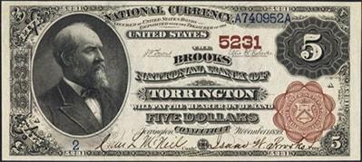 torrington five dollars
