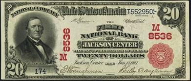 jackson center twenty dollars