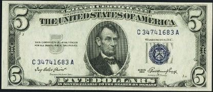 five dollar silver certificate freehold